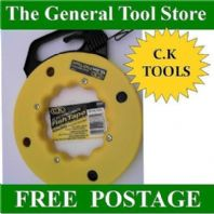 CK TOOLS ELECTRICIANS FISH TAPE ELECTRIC CABLE PULLER CONDUIT AND DUCTING 50FT